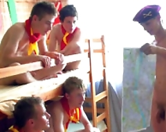 Hot gorgeous nude boy scout teen group
